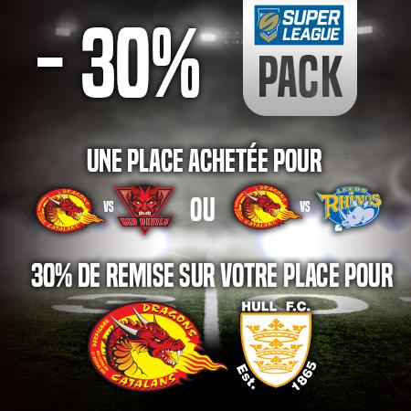Pack LEEDS / HULL FC à -30 %